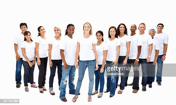 Zuversichtlich multi ethnischen Gruppe