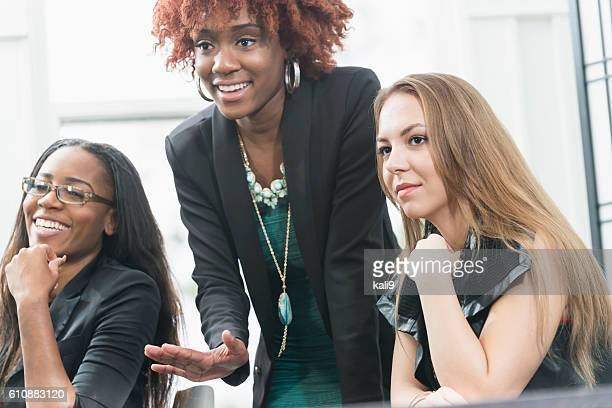 Confident multi-ethnic young business women