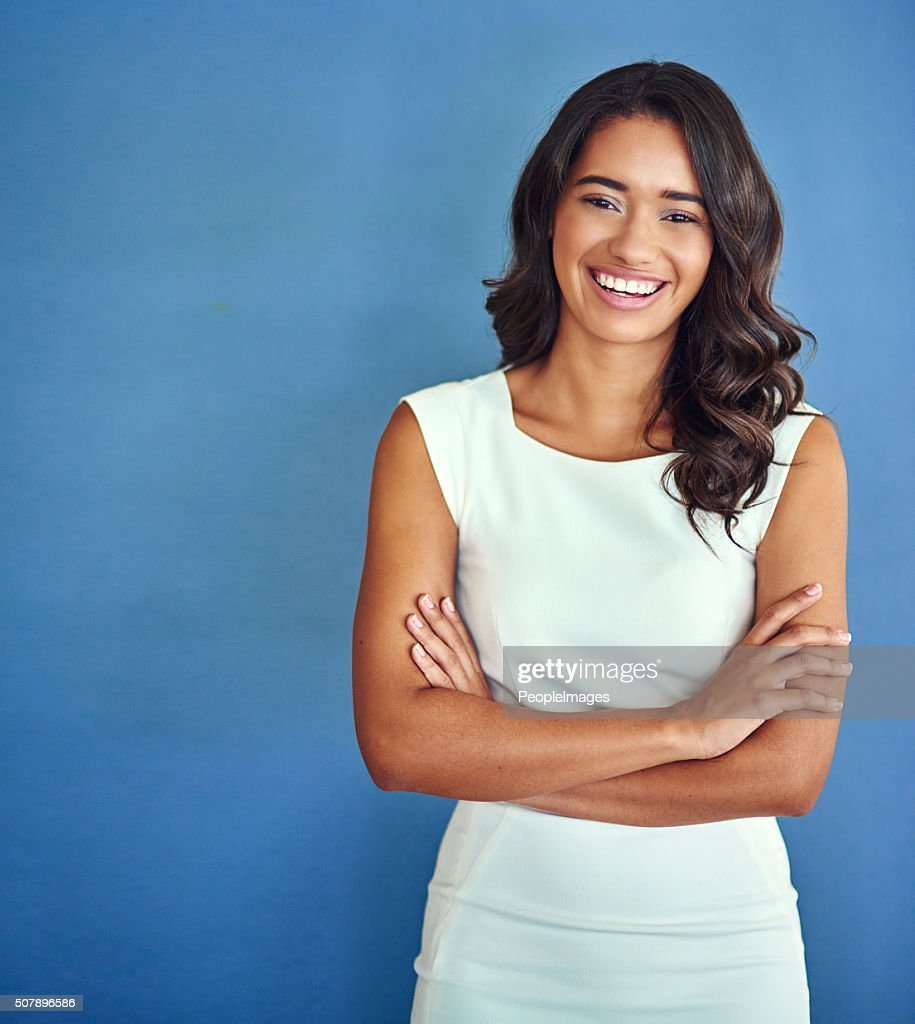 Confident of her place in the business world : Stock Photo
