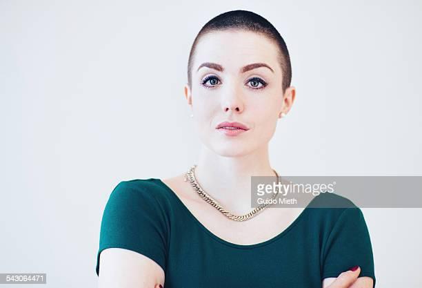 Confident portrait of a young woman.