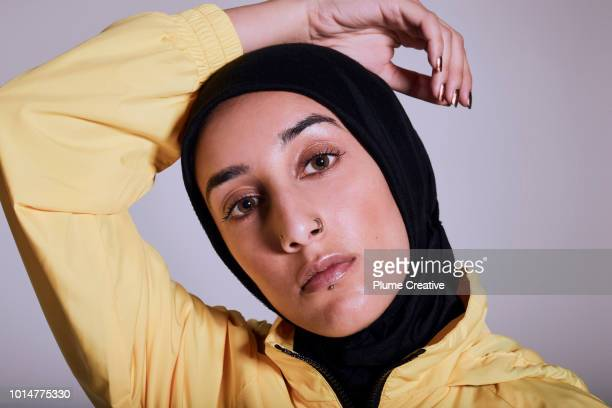 Confident portrait of young Muslim woman