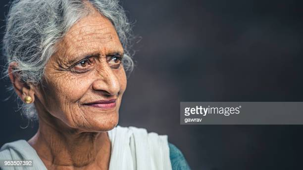 confident senior woman of india - dupatta stock pictures, royalty-free photos & images