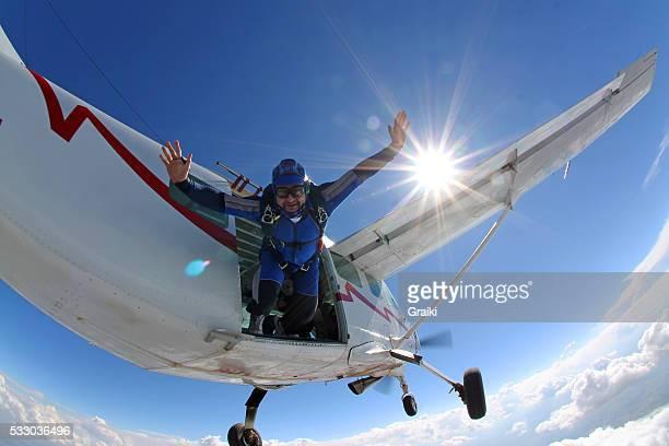 A confident Skydiver