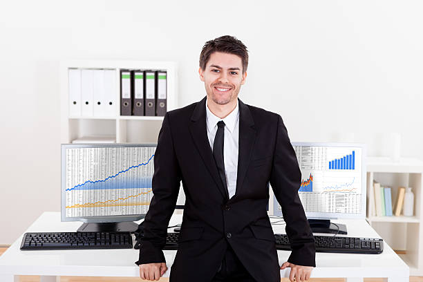 """stock broker with tagline """"maine business brokers utilized a new frontier in pairing so whether you have a small firm or a large manufacturing company you'll want a broker who."""