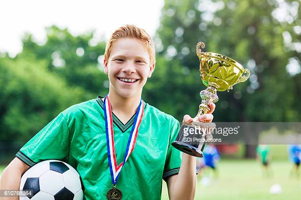 Confident soccer champ after win
