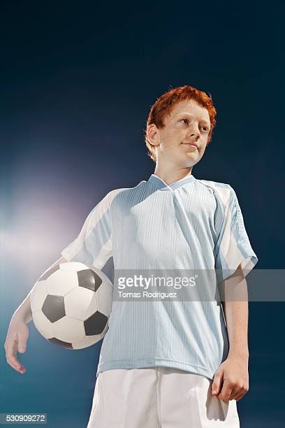 Confident soccer player