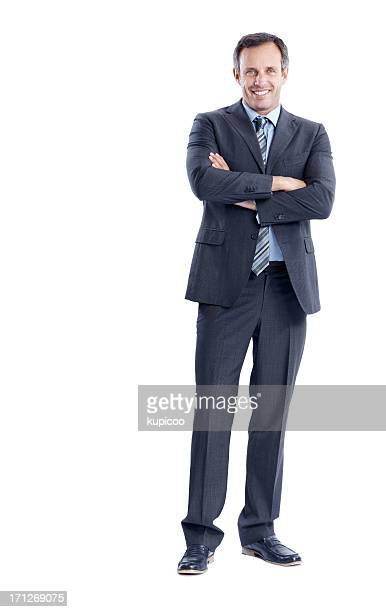 confident stance of an experienced executive - human arm stock pictures, royalty-free photos & images