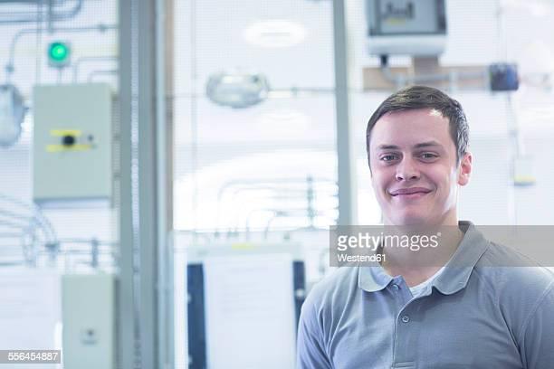 Confident student at electronics vocational school