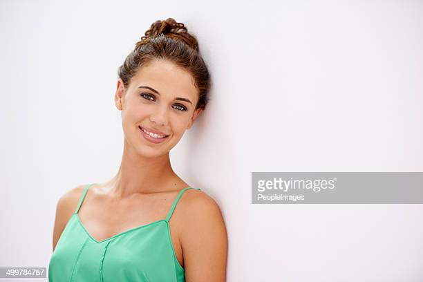 confident style - hair back stock pictures, royalty-free photos & images