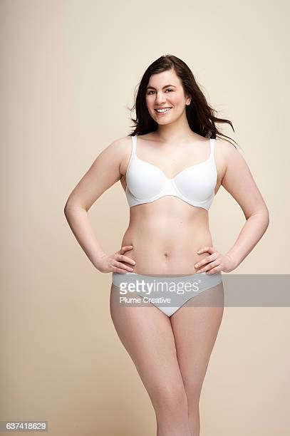 confident woman in underwear - hand on hip stock pictures, royalty-free photos & images