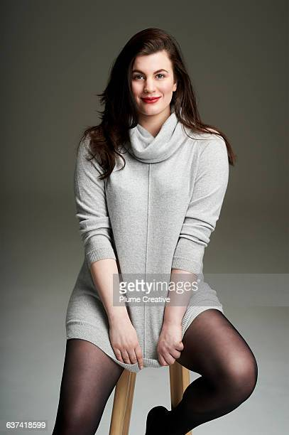 Confident woman looking to camera