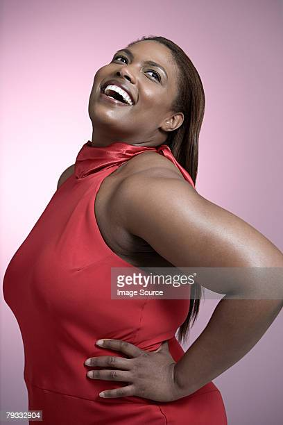 confident woman - images of fat black women stock photos and pictures