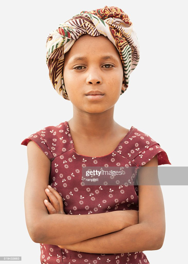 Confident Young African Girl : Stock Photo