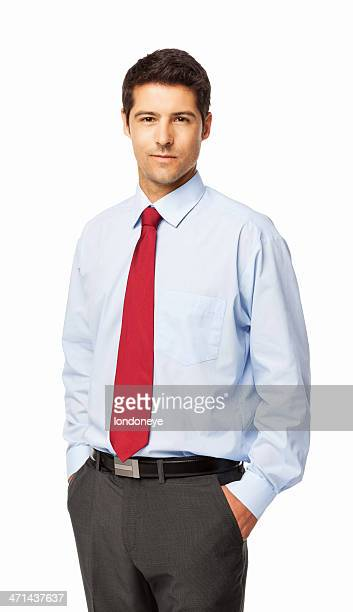 confident young businessman - isolated - shirt and tie stock pictures, royalty-free photos & images