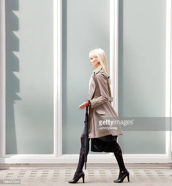 Confident Young Businesswoman Walking
