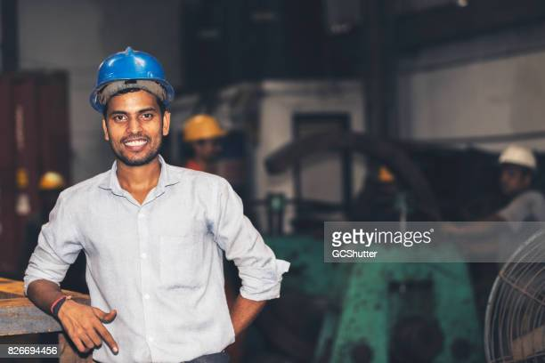 Confident young engineer