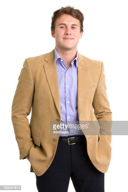 Confident young man in blazer and suit