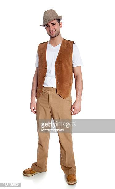 confident young man - waistcoat stock photos and pictures