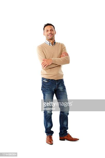 confident young man with arms crossed - smart casual stock pictures, royalty-free photos & images