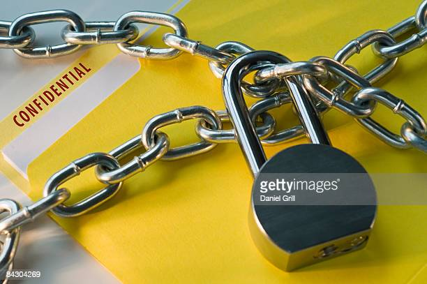 Confidential file locked with chain