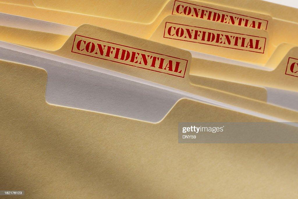 Vertrauliche Dateien : Stock-Foto