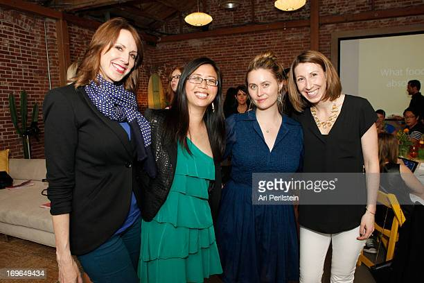 LA Confidential Magazine Publisher Alison Miller Angela Kim Alexis Johnson and Katy Asher attend Microsoft and Los Angeles Confidential Present Fresh...