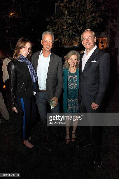 LA Confidential Publisher Alison Miller Jeffrey Soros Jennifer Maguire and Stephen Maguire attend Los Angeles Confidential And Merrrill Lynch Wealth...
