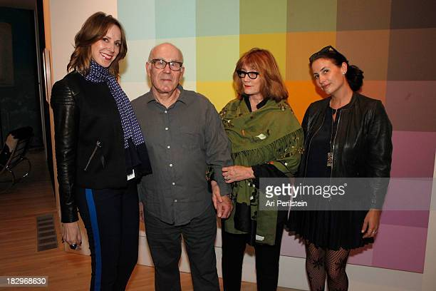 LA Confidential Publisher Alison Miller Peter Gelles Eve Steele and Director LAXART Lauri Firstenberg attend Los Angeles Confidential And Merrrill...