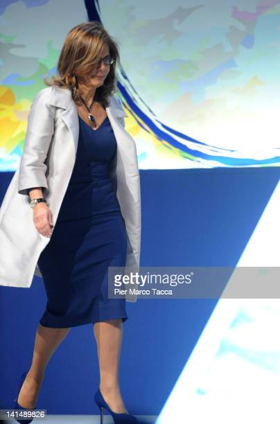Confindustria President Emma Marcegaglia attends day two of 'Cambia Italia Riforme Per Crescere' on March 17 2012 in Milan Italy During the two day...