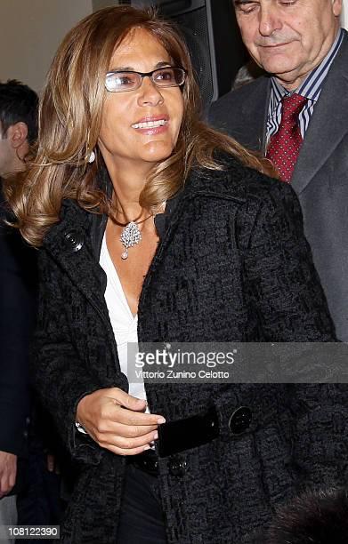 Confindustria President Emma Marcegaglia attends 'Il futuro e di tutti ma e uno solo' book presentation held at Casa della cultura on January 18 2011...