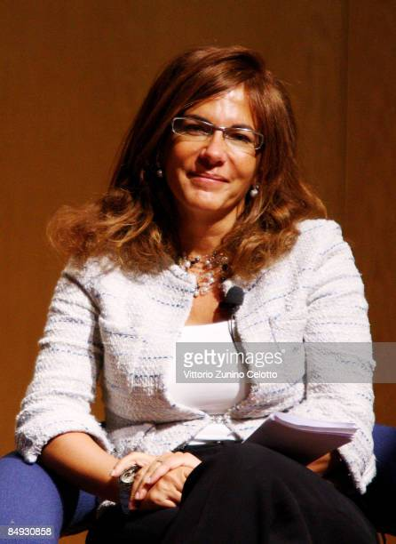 Confindustria President Emma Marcegaglia attends the Opening Conference of Bit 2009 - International Tourism Exchange Fair on February 19, 2009 in...