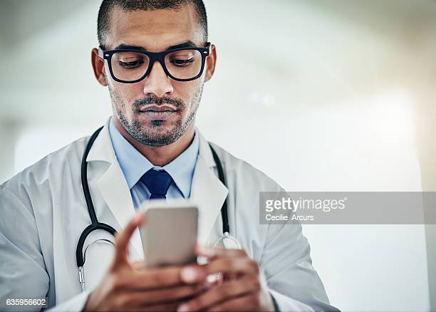 Confirming his next appointment with a patient