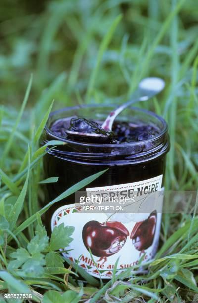 confiture de cerises noires Pays Basque departement PyreneesAtlantique region Aquitaine France black cherry jam Pays Basque PyreneesAtlantique...