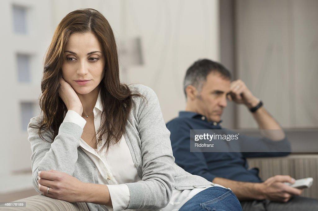 Conflict Between Couple : Stock Photo