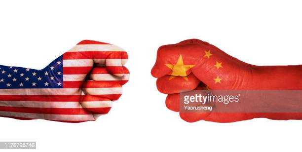 conflict between usa and china - war stock pictures, royalty-free photos & images