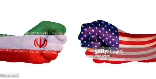 conflict between usa and iran - iran foto e immagini stock