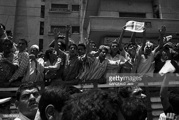 Egypt Egypte le Caire 13 juin 1967 Gamal Abdel Nasser deuxième président de la République d'Égypte ferme le golfe d'Akaba à la navigation israélienne...