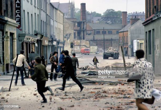 Conflict in Northern Ireland circa 1979 in Londonderry.
