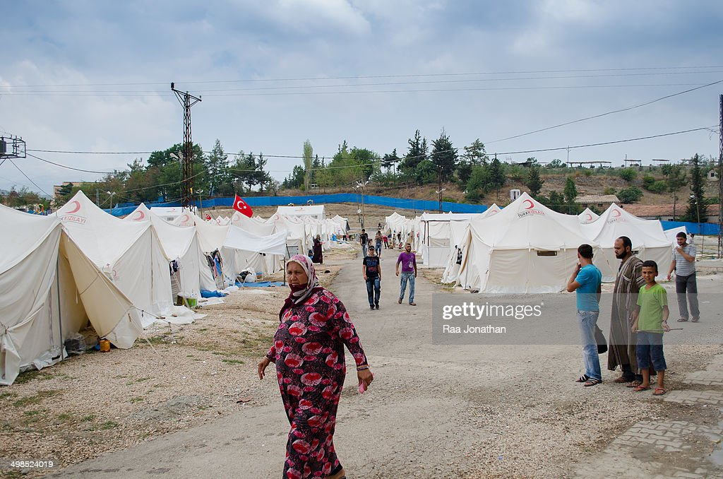 Syrian Refugees in refugee camp : News Photo