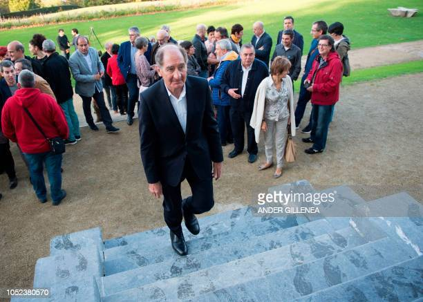 Conflict resolution experts from the International contact group GIC South African lawyer Brian Currin walks before taking part in a conference in...
