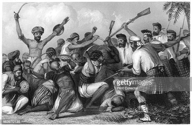 'Conflict with the Ghazees before Bareilly 6 May 1858' Fighting between British and Indian soldiers during the period of East India Company rule...