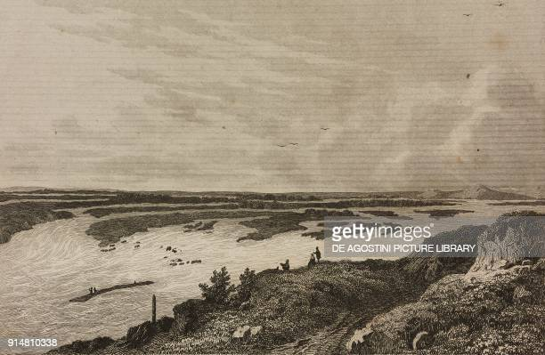 Confluence of the Iler river in the Danube Germany engraving by Lemaitre Vanderburch and Lejeune from Allemagne by Philippe Le Bas L'Univers...