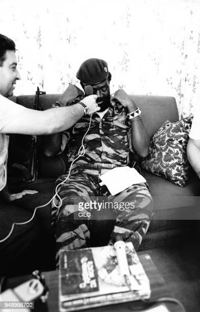Conférence de presse de Jonas Savimbi le 8 février 1976 à SilvoPorto Angola