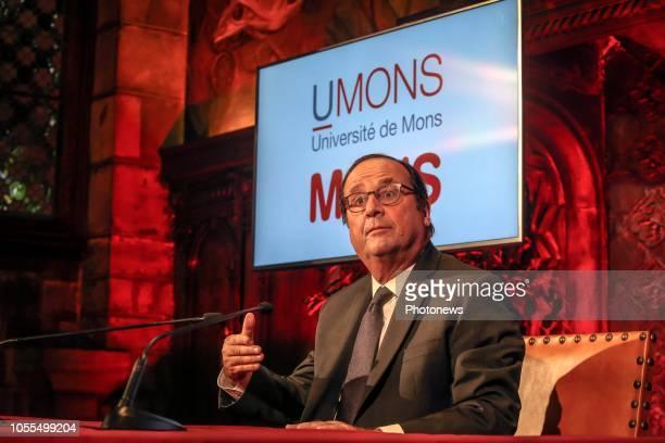 Conférence de presse de l'ancien président français François Hollande dans le cadre de la publication de son dernier livre 'Les Leçons du Pouvoir'...