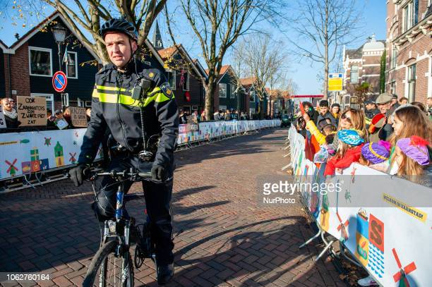Confrontation between pro Black Pete and anti Black Pete during the National arrival of Sinterklaas in Zaandstad Netherlands Like each year the first...