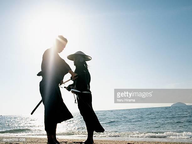 Confrontation of two Samurai warriors