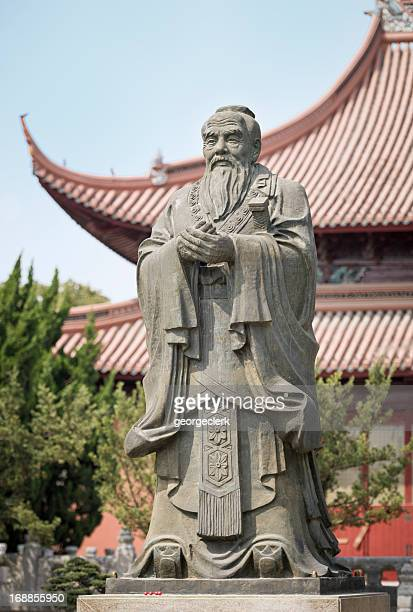 confucius statue and temple in suzhou, china - philosopher stock pictures, royalty-free photos & images