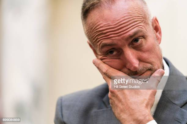 confused caucasian businessman - tensed idaho stock photos and pictures