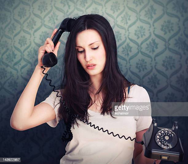 confused chat - one young woman only stock pictures, royalty-free photos & images