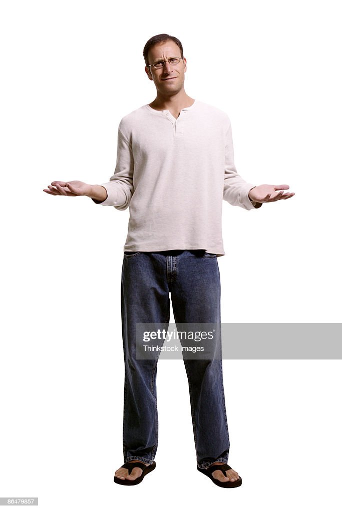 Confused man : Stock Photo